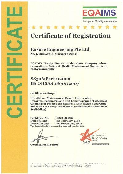 EQAIMS - SS506-PART 1 -2009 BS OHSAS-18001-2007 - (05-12-2020)